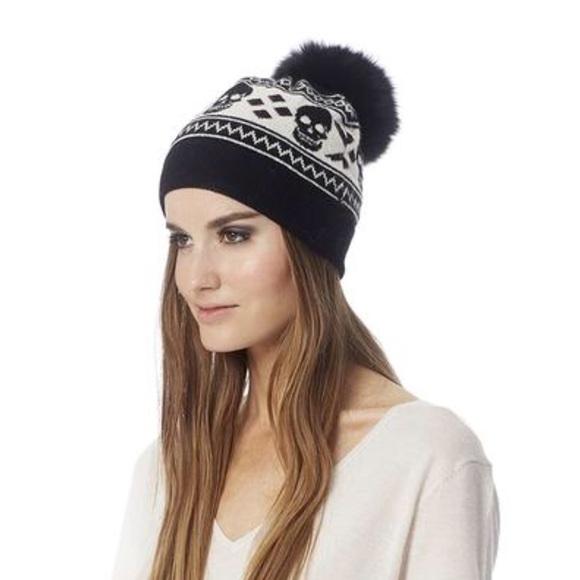 80fe9f691b3a96 skull cashmere Accessories | 360 Cashmere Skull Hat | Poshmark
